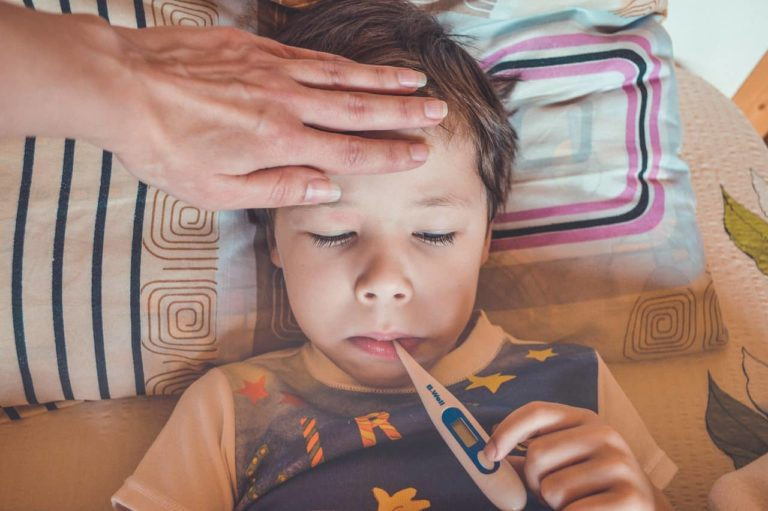 Child with a fever