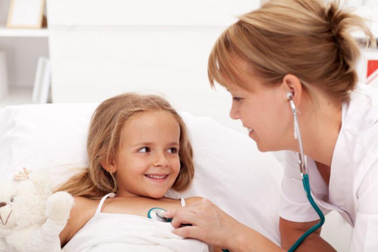 kid at a checkup