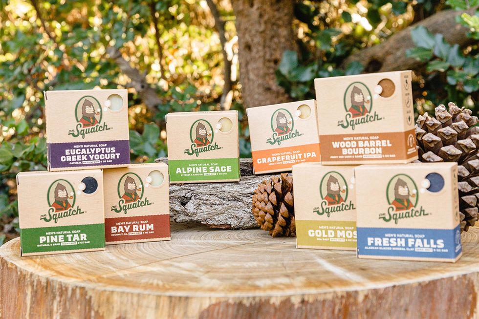 different kinds of Dr Squatch soap