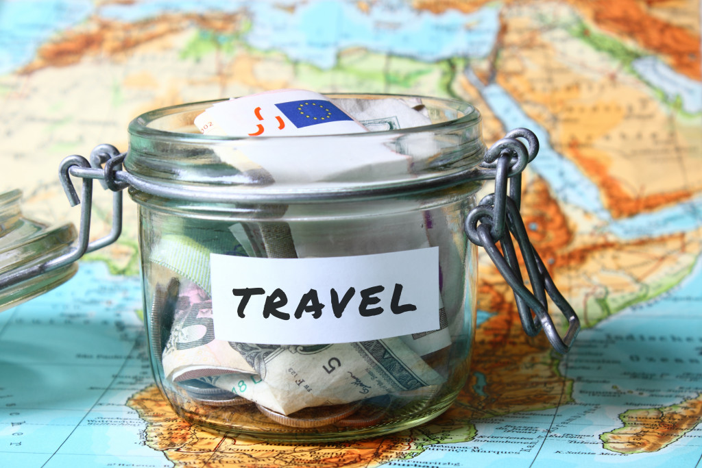 a jar of money for travel